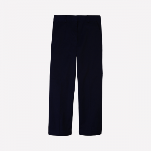 Girl Navy Trouser With Back Elastic - KG1-KG2