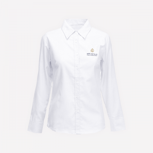 White Long Sleeve Blouse With Logo - KG1-KG2