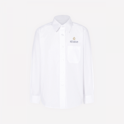 White Long Sleeve Shirt With Logo - G1-G10